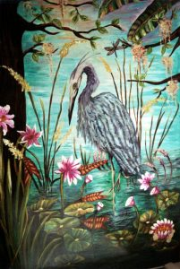 Blue Heron and the Dragonfly - Sold