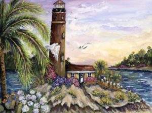 Caribbean Lighthouse - Sold