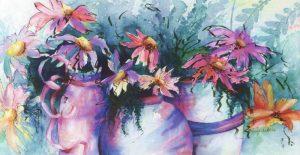 Colorful Pots - Sold
