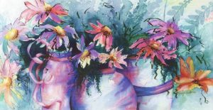 Colorful Pots - Sold