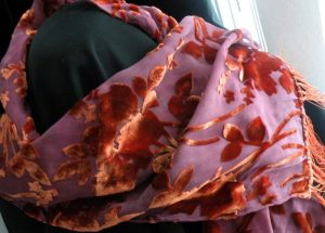 devore rust and rose scarf