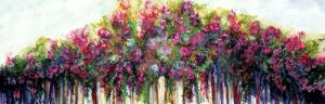 Roses on the Fence - Sold
